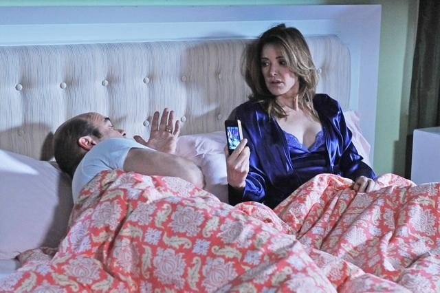 Christa Miller and Ian Gomez on Cougar Town. Photo copyright 2012 ABC, Inc.