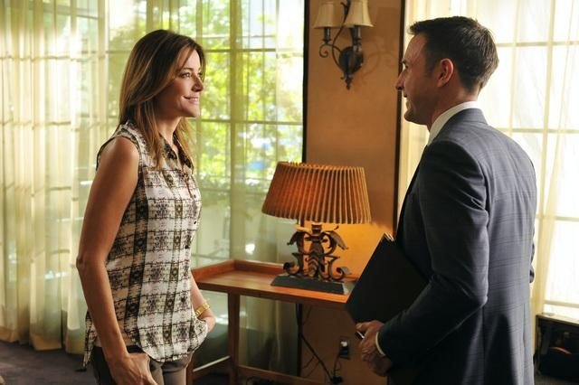 Christa Miller and David Arquette on Cougar Town. Photo copyright 2012 ABC, Inc.