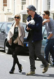New parents Chris Hemsworth and Elsa Pataky stepped out with 5-day-old baby India.