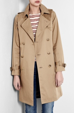 This is the kind of classic piece she'll keep for years to come.  A.P.C. Double Breasted Cotton Ultimate Trench Coat ($481)
