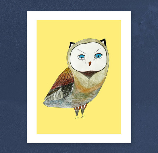 O2Optimist Owl Print ($35)