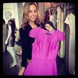This mauve Wayne Cooper frock caught FabSugar ed Ali's eye.