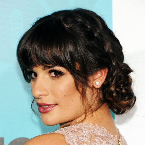 3 Ways To Style a Bun With Bangs Just Like Lea Michele and Bella Heathcote