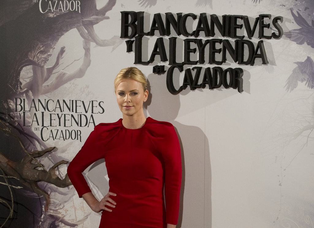 the Snow White and the Huntsman photocall in Madrid.