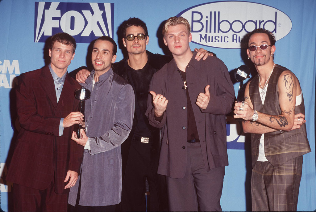 The Backstreet Boys were the centre of attention backstage at the 1998 show.