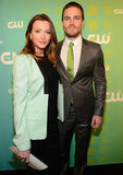 Katie Cassidy and Stephen Amell stepped out for the CW party.
