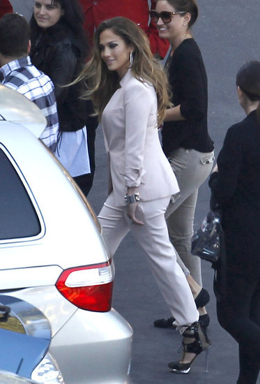 Jennifer Lopez headed to set.