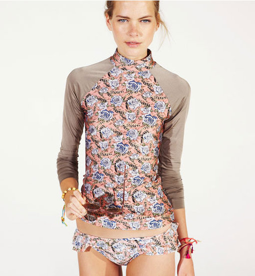Zimmermann Rose Print Rash Guard ($195)