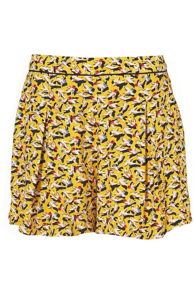 Pair these shorts with a blouse and blazer for a sweet, office-appropriate daytime look.  Topshop Co-Ord Bird Shorts ($70)