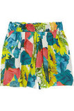 Pair these tropical-cool shorts with a white tee and denim button-up.  Alice + Olivia Sunflower Shorts ($200)