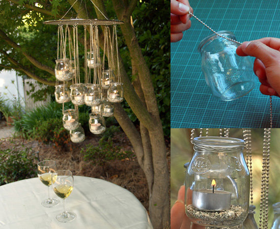 Upcycle Your Baby Food Jars Into a Glass Chandelier