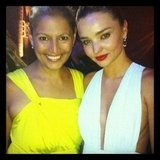Sally Obermeder and Miranda Kerr attended the InStyle and Audi Women of Style Awards. Source: Twitter User SallyObermeder