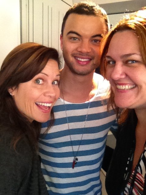 Guy Sebastian had a radio chat with Chrissie Swan and Jane Hall. Source: Twitter User chrissieswan