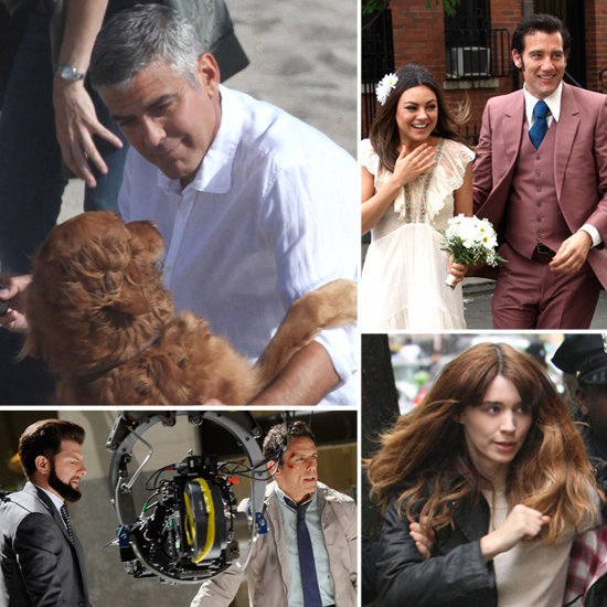 George Clooney, Rooney Mara, Mila Kunis, and More Stars on Set!