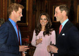 Kate Middleton Dresses Up For Drinks and Lunch With William and Harry