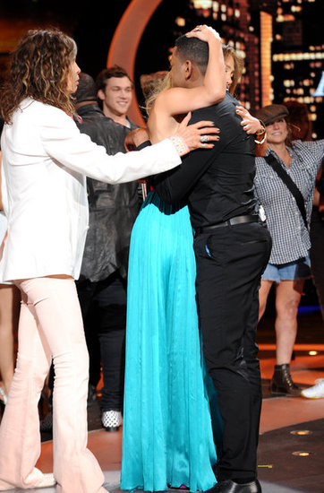 Steven Tyler joined Jennifer Lopez in saying goodbye to Joshua Ledet.