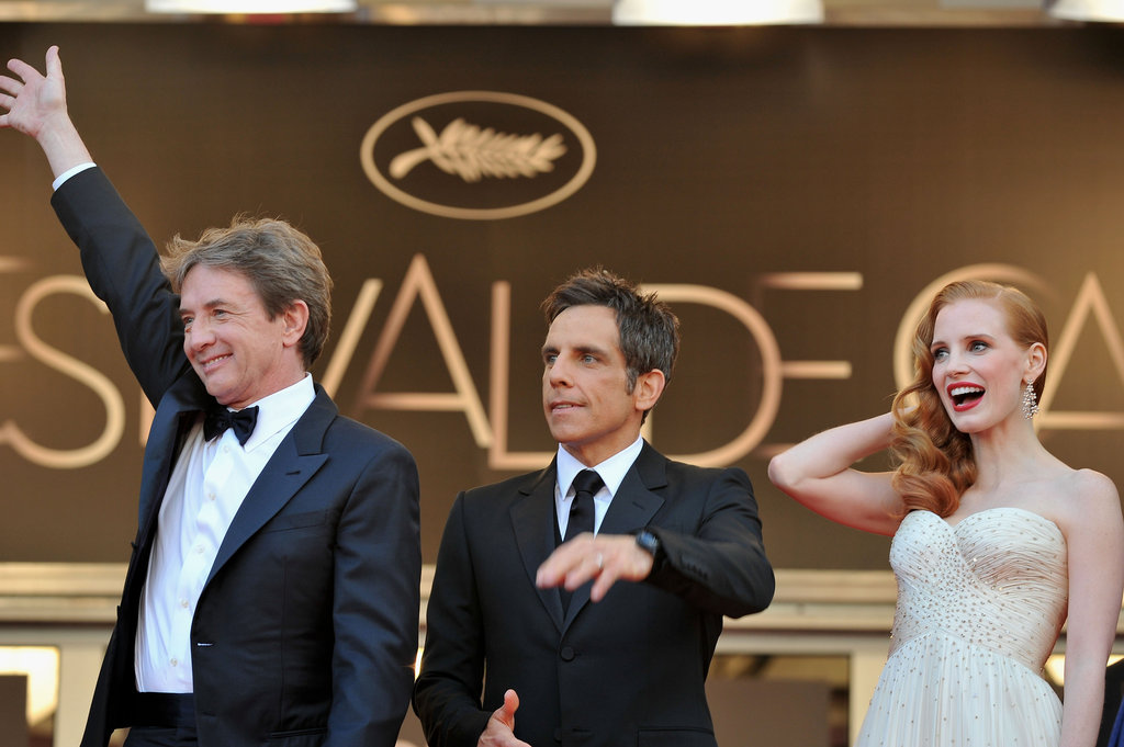 Marin Short, Ben Stiller, and Jessica Chastain posed for photos in Cannes for theMadagascar 3: Europe's Most Wanted premiere.