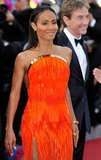 Jada Pinkett Smith looked stunning in bright orange at the premiere of Madagascar 3: Europe's Most Wanted.