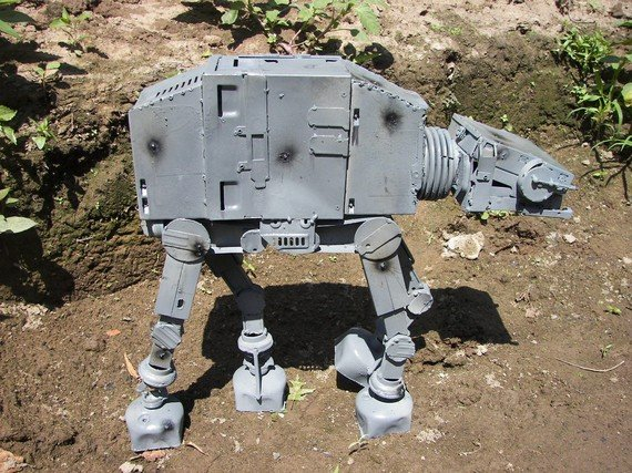 Imperial Walker made of recycled computer parts ($450)