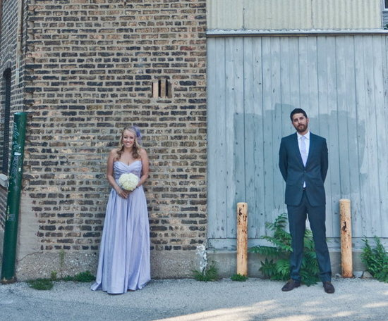 We can't get over how adorable this shot of just-married
