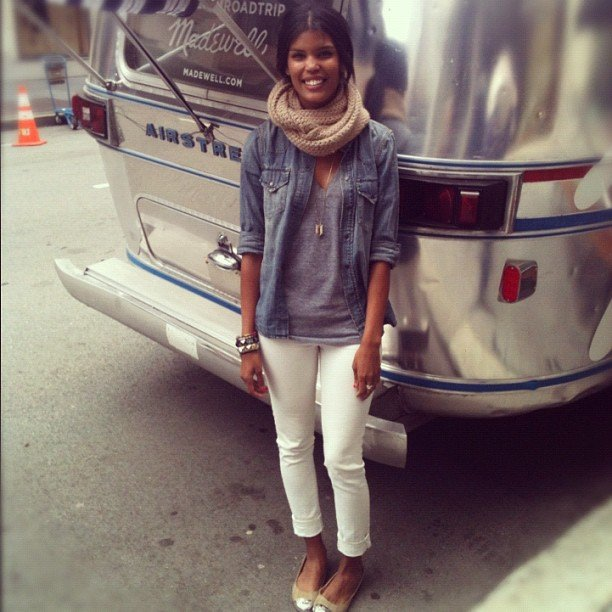 Assistant editor Brittney stopped by Madewell's Denim Road Trip in San Francisco.