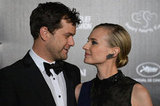 Diane Kruger and Joshua Jackson arrived for an event to raise money for charities working in Haiti.