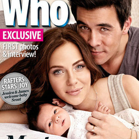 First Picture of Jessica Marais and James Stewart's Baby Girl Scout in Who Magazine