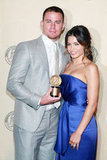 Channing Tatum and Jenna Dewan showcased their Peabody Award that they received on May 21 in NYC.