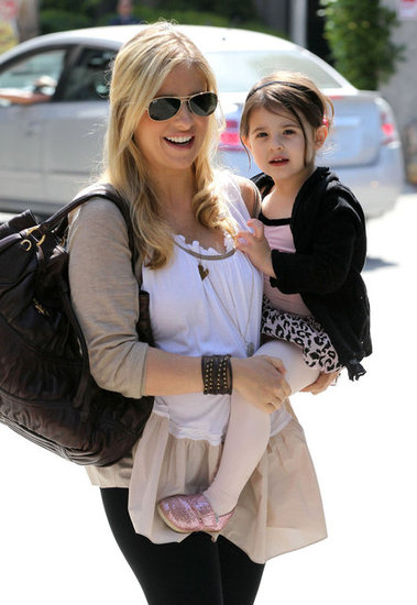 Sarah Michelle Gellar and Charlotte Prinze headed to their car.