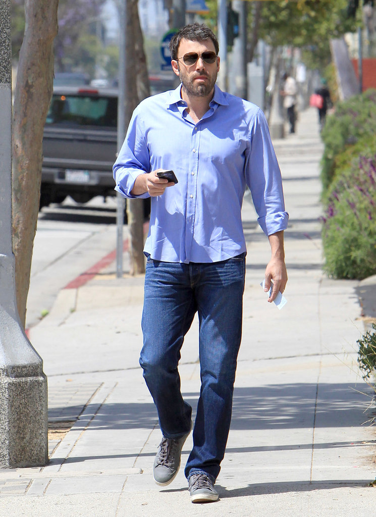 Ben Affleck checked his phone.