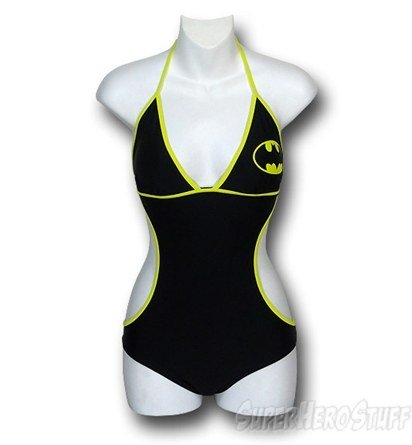 When the signal's still on, try the Batman Monokini One-Piece Swimsuit ($48).