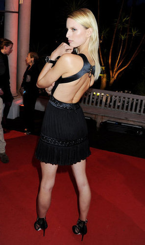 Karolina Kurkova showed off the sexy back cutout on her LBD at the IWC Filmmakers dinner.