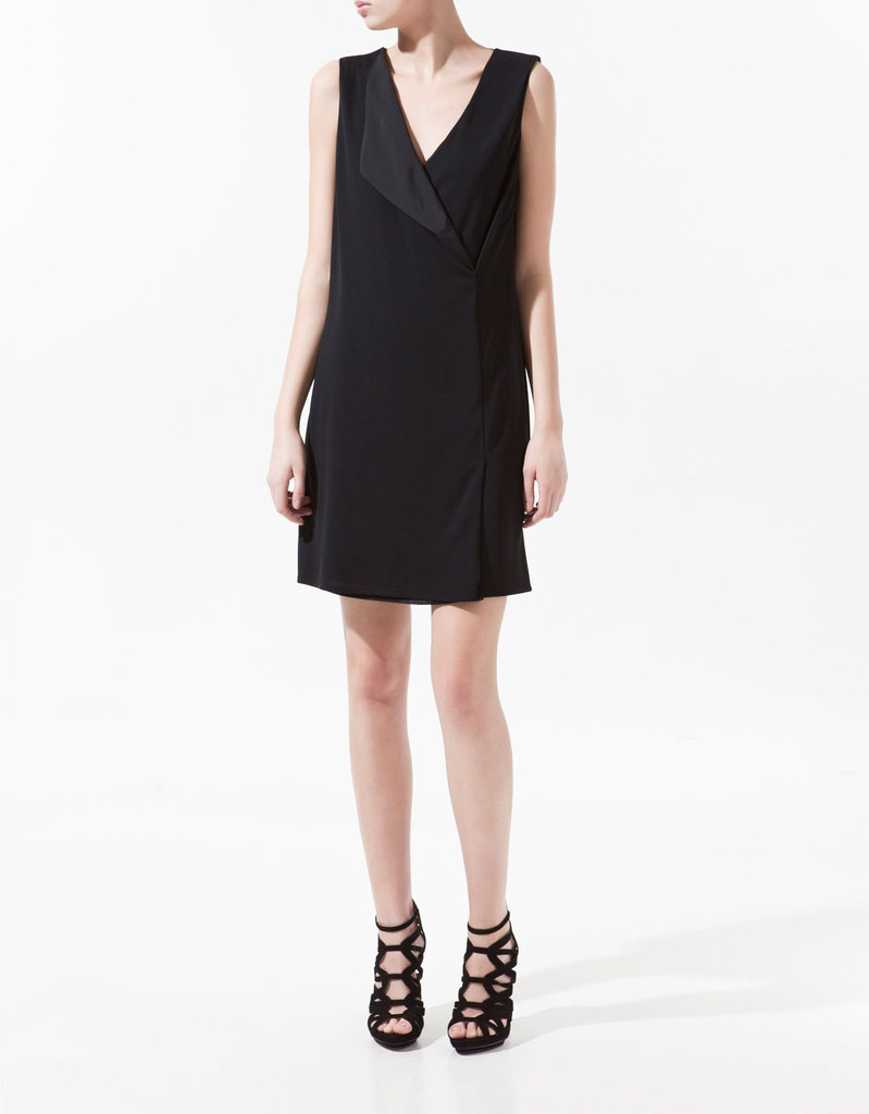 We love this menswear-inspired spin on the LBD.  Zara Dress With Double-Breasted Lapel ($70)