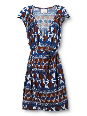 This bold pattern is sure to revive your working wardrobe.  Quiksilver Island Geo Wrap Dress ($45)