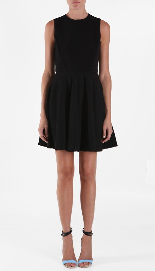 Tibi's dress is the fit-and-flare trend at its finest.  Tibi Faille Scoopneck Dress ($398)