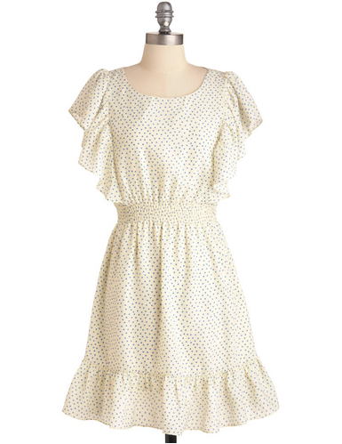The most charming of LWDs, this frock would pair well with equally sweet sandals.  Modcloth Dazzling Dipper Dress ($48)