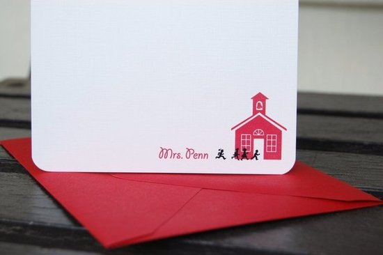Sweet Bella Cards Personalized Teacher Stationery ($17)