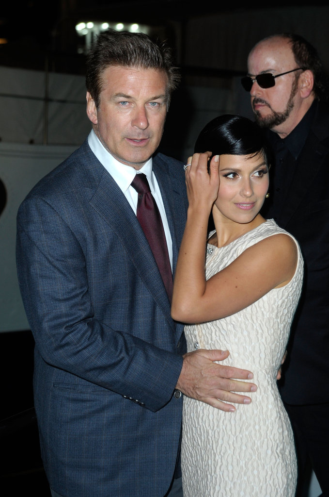 Alec Baldwin and Hilaria Thomas attended Eva Longoria's cocktail party.