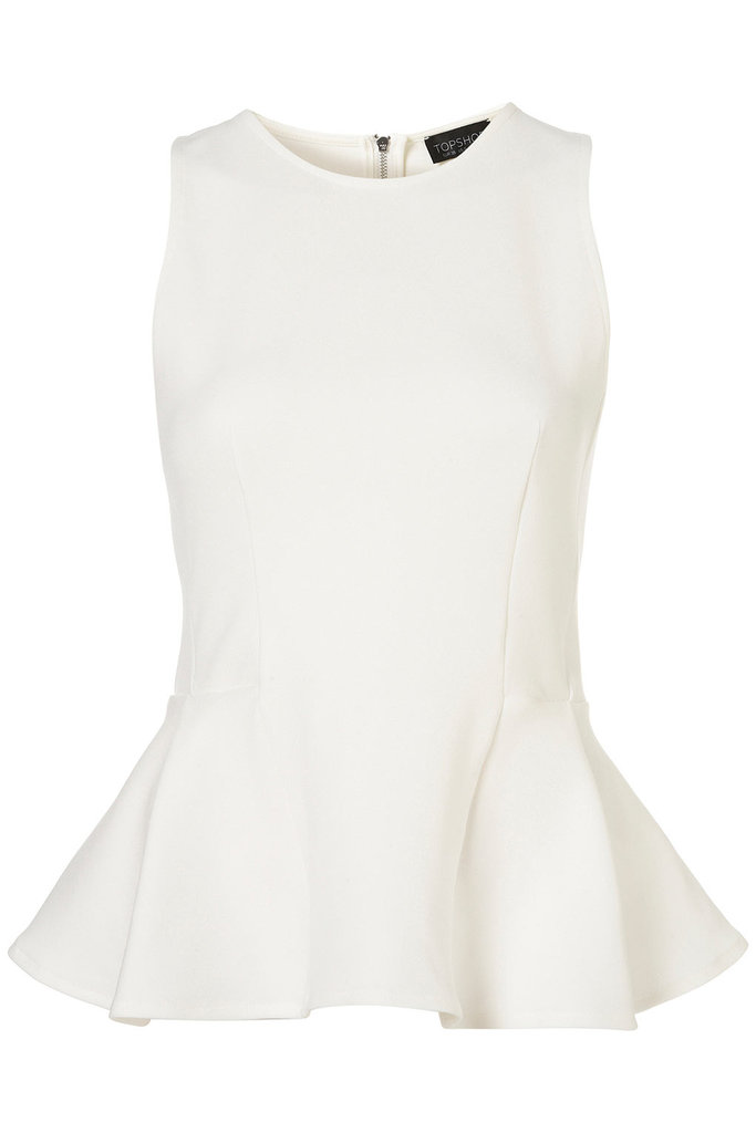 Topshop Panel Peplum Shell Top ($31)