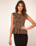Asos Top in Animal Print With Peplum ($43)