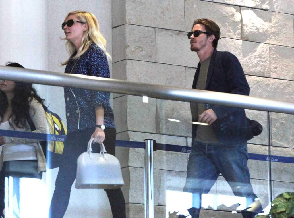 Kirsten Dunst and boyfriend Garrett Hedlund were pictured together at the airport.
