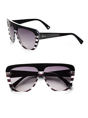 Dior - Oversized Stripe Sunglasses - Saks.com