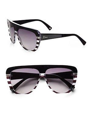 Dior - Oversized Stripe Sunglasses - Saks.com