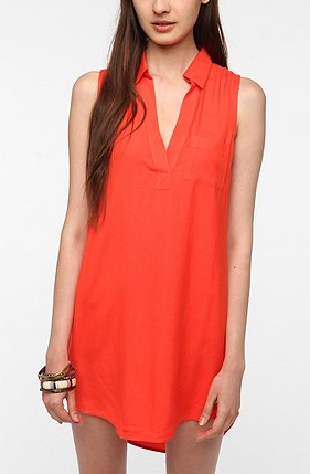 This is the easiest of silhouettes. Throw this one in your beach bag, or belt it and take it to lunch. Sparkle & Fade Open-Back Sleeveless Shirtdress ($49)