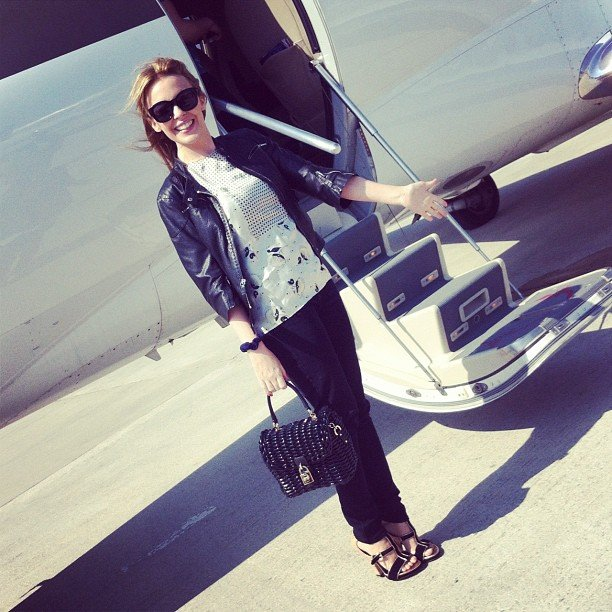 Kylie Minogue jetted to Cannes in style.  Source: Instagram user kylieminogue