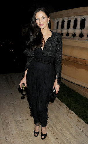 Georgina Chapman, mastermind behind Marchesa, chose a slick black jumpsuit at the Killing Them Softly afterparty.