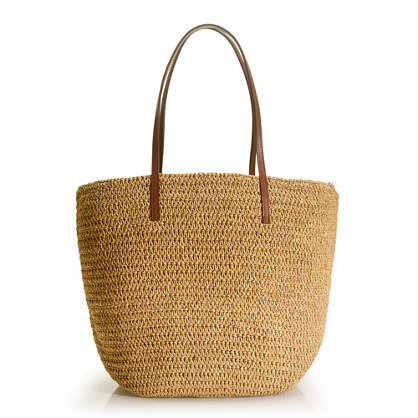 Just like the name says — this bag was made for toting your goodies home from the farmers market.  J.Crew Farmer's Market Tote ($45)