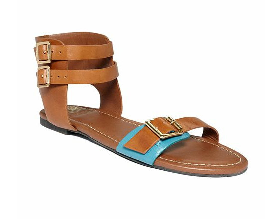 With just a touch of teal and sleek buckle accents, these flat ankle-strap sandals are a great and casual day-to-night option. Vince Camuto Mirando Sandals ($89)
