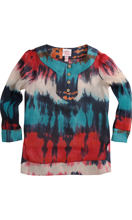 Milly Minis Dyed Tunic Cover-Up ($161)