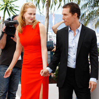 Nicole Kidman Red Slit Dress at 2012 Cannes Film Festival
